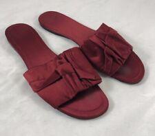 e80f005da47e THE ROW Ellen Ruched Satin Slides in Burgundy Size 40.5 $745
