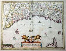 MERCATOR HONDIUS ITALIEN GENUA ITALY LIGURIEN REIPUBLICAE GENUENSIS DUCATUS 1633