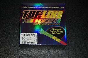 TUF-Line XP Indicator 30 lb Test 300 yards Red Yellow Green Braid Fishing Line