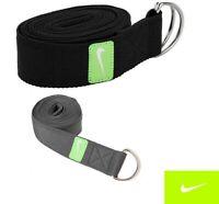 D-Ring Nike Cotton Yoga Stretch Strap Training Belt Leg Fitnes Exercise Athletic