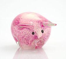"""New 4"""" Hand Blown Art Glass Pig Figurine Sculpture Statue Pink Decorative"""