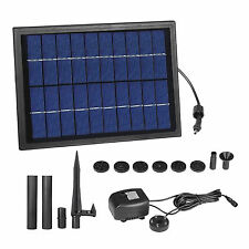 Outdoor Solar Powered Fountain Water Pump with Led Lighting Kit for Garden