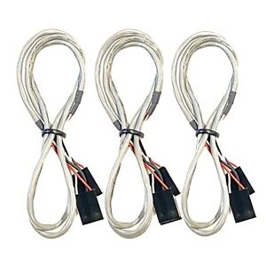 (3) PC Computer DVD / CD-ROM Gray Audio Cable 4pin 3 Conductor Internal Computer