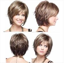 Synthetic Natural Ladies Full Heat Resistant Cap Short Straight Hair Daily Wigs