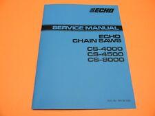 ECHO CS4000 CS4500 CS8000 CHAINSAW SERVICE MANUAL ( TROUBLE SHOOTING GUIDE )