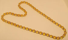 New genuine Citrine 10mm bead necklace strung with crystal beads, 30 inches.