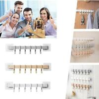 6 Even Rows of Hook Nail-Free Self-Adhesive Rack Wall Hanger Shelf Kitchen Best