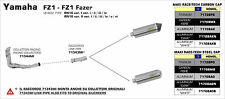 SILENCIEUX ARROW CARBONE YAMAHA FZ1 / FAZER 2006/16 - 71343MI+71708MK
