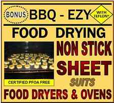 FOOD Dehydrator SHEETS fits Exalibur Food DRYERS & PRESERVERS.Foodsafe Nonstick