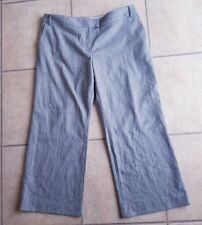 Ladies Marks & Spencer's Grey Pinstripe Trousers Size 20L Limited Collection VGC