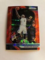 2018-19 Panini Prizm #282 DeMarcus Cousins RED ICE PRIZM SP - Warriors