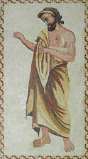 Uniform Traditional Greek Man Frame Decor Marble Mosaic FG470