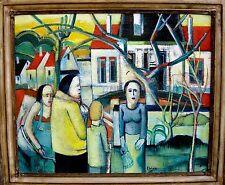 Rene 'couturier 1933 Dieppe/AMBIANCE/Grand tableau/collection ducontrôle
