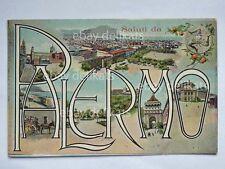 Saluti da PALERMO vedutine vecchia cartolina
