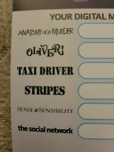 """COLUMBIA CLASSICS 2 """"4K Digital Only"""" TAXI DRIVER, STRIPES, OLIVER *ALL 6 MOVIES"""
