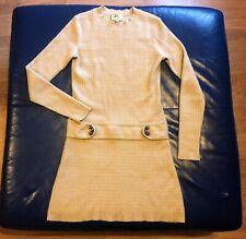Milly of new York magnífico vestido 100% Cachemir RRP £ 250 Mod años 60