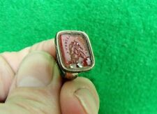 "Antique 19th Century ""Firm And Faithful"" Intaglio Fob Wax Stamp Seal"