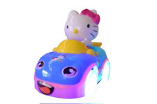Girl Kitty Car Children Toy Car Bump and Go Light up Music Toy Car Young girls