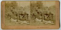 4th Infantry Scouts Philippine War Vintage Military Death Stereoview Photo 1899