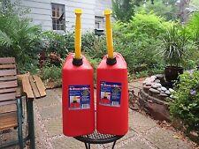 SET of 2 - NEW Vented Scepter 5 Gallon Plastic Jerry Gas Can Spout & Spout Cap