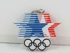 1984 Summer Olympic Games Keychain - Large Oversized Logo - Plastic Keychain