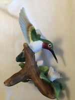 Vintage Hummingbird Figurine By La Vie- Porcelain hand Painted Made In China