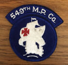ORIGINAL 1950's US EMBROIDERED 549th MILITARY POLICE COMPANY PATCH INTEGRAL TAB