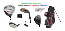 +1.5 INCH TALL MENS FULL GOLF CLUB SET 460 DRIVER+5 WOOD+HYBRID+IRONS+BAG+PUTTER