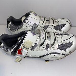 Specialized BG Cycling Shoes white purple 38.5 8US men's 3 bolt