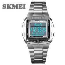 SKMEI 1381 para Hombres Digital LED Impermeable Alarma de 5 militares Relojes de Pulsera Deporte Reloj
