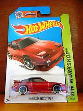 Hot Wheels 2015 HW Workshop '96 Nissan 180SX Type X 205/250 (Int. Card) (A+/A)