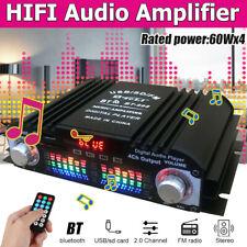 12V 720W Verstärker Auto HiFi Audio Stereo Mini Power Car Amplifier 4CH Schwarz