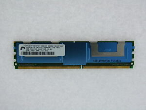 MT18HTF25672FDY-80EE1D4 2GB 240p PC2-6400 CL5 18c 128x8 DDR2-800 2Rx8 ECC FB