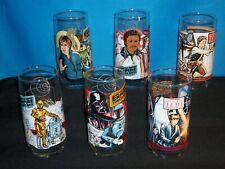 1980 /1983  -  STAR WARS DRINK GLASSES - LOT OF 6 DIFERENT KINDS