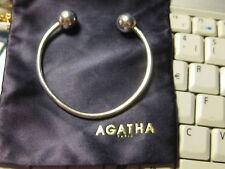 """BRACELET VINTAGE SIGNE 'AGATHA"""" EN ARGENT MASSIF 925 ANNEES 70"""
