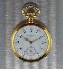 Patek Philippe 18k gold pocket watch with quarter repeater antique 23 Jewel 1901