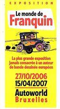 GASTON RARE DEPLIANT PROMOTION EXPOSITION LE MONDE DE FRANQUIN 2007