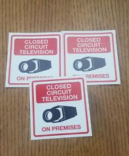 VIDEO SURVEILLANCE closed circuit CCTV  Warning Sticker (3x3in )set of 3 pcs