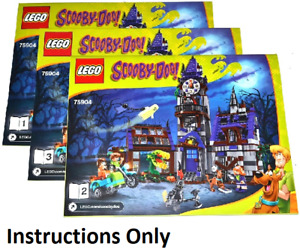 NEW INSTRUCTIONS ONLY LEGO MYSTERY MANSION 75904 books from set Scooby-Doo