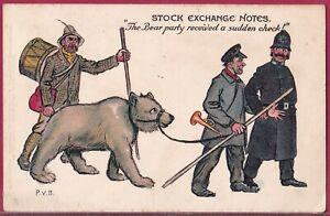 STOCK EXCHANGE NOTES 1903 Raphael Tuck PERCY BRADSHAW Bear Party