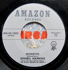 R&B POPCORN 45: JENNELL HAWKINS: Moments/Can I (Bumps Blackwell, Sonny Kenner)