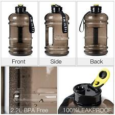 New 2.2L Big BPA Free Sport Gym Training Drink Water Bottle Cap Kettle Workout