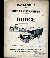"ROUEN (76) CATALOGUE de PIECES AUTOMOBILE Américaine DODGE 4x4 6x6 ""LECHEVALIER"""
