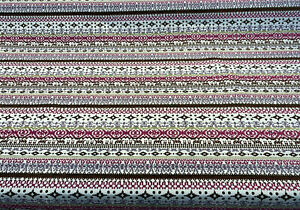 Razzmatazz Stripe Purple Chenille Tapestry Upholstery Fabric By The Yard