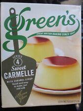 3 x GREEN'S DESSERTS SWEET CARMELLE, EGG CUSTARD & LEMON PIE MIXES FREE UK POST
