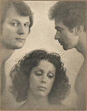 R HENDRICKSON Vintage Original Photo MENAGE A TROIS SEXUAL REVOLUTION 1960s M477