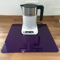 Square Kitchen Worktop Savers in Purple Gloss Finish Acrylic 3mm