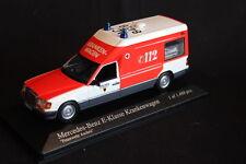 Minichamps Mercedes-Benz E-Klasse Krankenwagen 1991 1:43 Feuerwehr Aachen (JS)