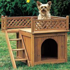 Cuccia in legno naturale per cane e gatto L 66 x 53 x H 64cm