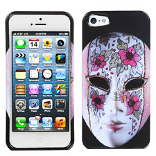 For Apple iPhone 5 5S SE HARD Protector Case Snap On Phone Cover Beauty Mask